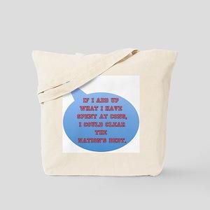 Con Debt Tote Bag