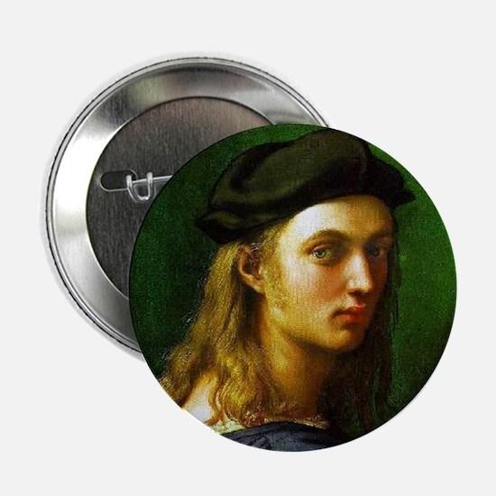 """Faces """"Raphael"""" 2.25"""" Button"""