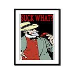 Suck What? Crawfish Framed Panel Print