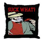 Suck What? Crawfish Throw Pillow