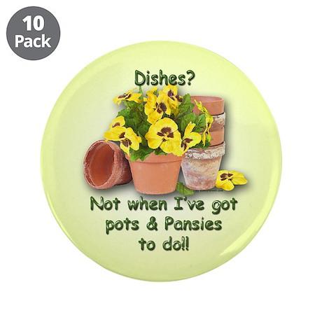 "Pots & Pansies 3.5"" Button (10 pack)"