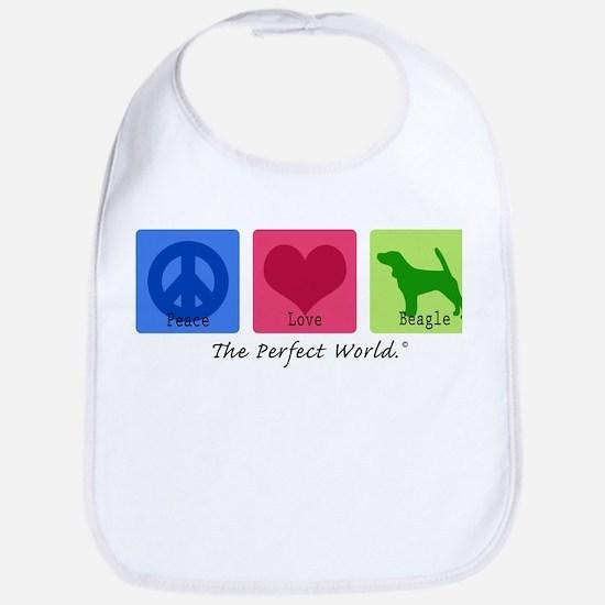 Peace Love Beagle Bib