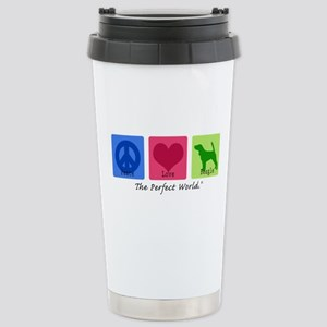 Peace Love Beagle Stainless Steel Travel Mug