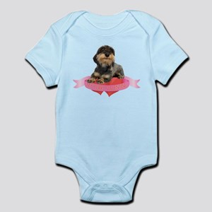 Wirehaired Dachshund Valentine Infant Bodysuit