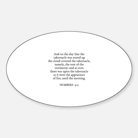 NUMBERS 9:15 Oval Decal