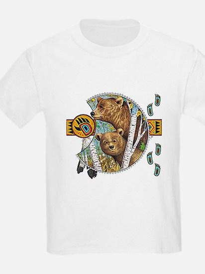 bear totem Kids T-Shirt