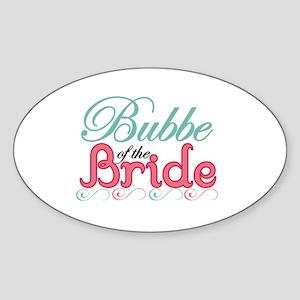 Bubbe of the Bride Oval Sticker