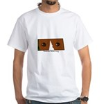 Corgi Eyes White T-Shirt