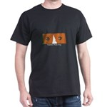 Corgi Eyes Black T-Shirt