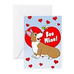 Be Mine Corgi Valentines (Pk of 10)