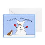 Snowman Pembroke Corgi Christmas Cards (10 pk)