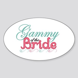 Gammy of the Bride Oval Sticker