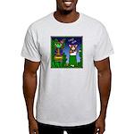 Corgi Hula Ash Grey T-Shirt