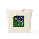 Corgi Hula Tote Bag