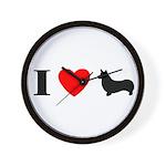 I Heart Pembroke Wall Clock