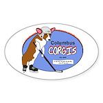 Columbus Corgis Oval Sticker