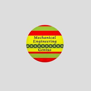 Mechanical Engineering Genius Mini Button