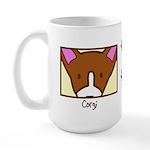 Anime Corgi Large Mug