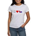 Peace, Love, Pembroke Corgi Women's T-Shirt