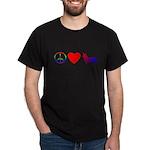 Peace, Love, Pembroke Corgi Dark T-Shirt