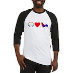 Peace, Love, Pembroke Corgi Baseball Jersey