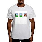 Corgi Comic Strip Ash Grey T-Shirt