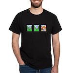 Corgi Comic Strip Black T-Shirt