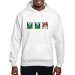 Corgi Comic Strip Hooded Sweatshirt