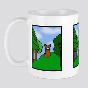 Corgi Comic Strip Mug