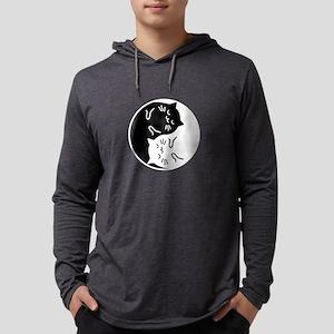 Yin Yang Cats black Long Sleeve T-Shirt