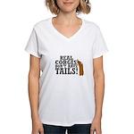 Real Corgi Women's V-Neck T-Shirt