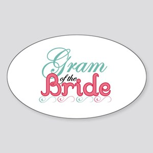 Gram of the Bride Oval Sticker
