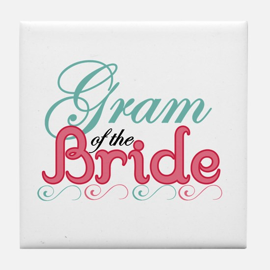 Gram of the Bride Tile Coaster