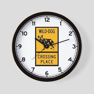 Wild Dog Crossing Place, Zimbabwe Wall Clock