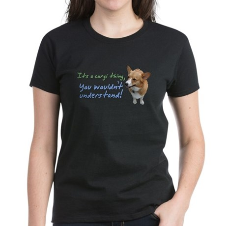 Corgi Thing Women's Dark T-Shirt