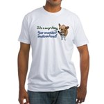 Corgi Thing Fitted T-Shirt