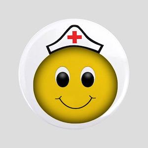 """Happy Nurse 3.5"""" Button"""