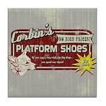 Corbin's Platform Shoes Tile Coaster