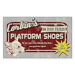 Corbin's Platform Shoes Rectangle Sticker