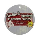 Corbin's Platform Shoes Ornament (Round)