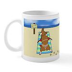 Nude Beach Corgi Mug