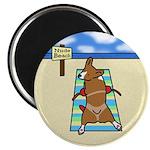 Nude Beach Corgi Magnet