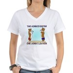 Sumo Corgi Women's V-Neck T-Shirt