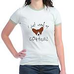 Need Coffee Corgi Jr. Ringer T-Shirt