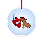I Love my Corgi Ornament (Round)