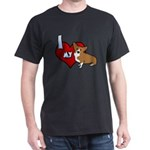 I Love my Corgi Dark T Shirt (Cartoon)