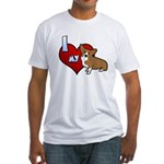 I Love my Corgi Fitted T-Shirt