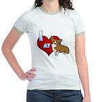 I Love my Corgi Jr. Ringer T-Shirt