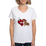 I Love my Corgi Women's V-Neck T-Shirt