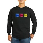 Color Row Pembroke Corgi Long Sleeve Dark T-Shirt